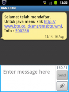 SMS Banking BTN 1