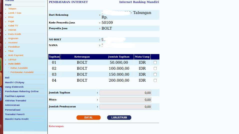 Isi ulang Bolt lewat mobile banking Bank Mandiri – blog.rivaekaputra ...