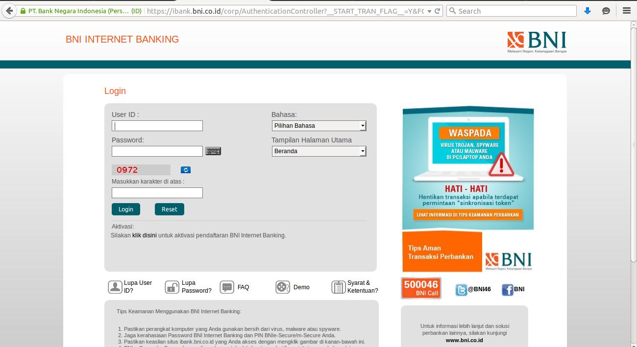 Internet Banking BNI | blog.rivaekaputra.com