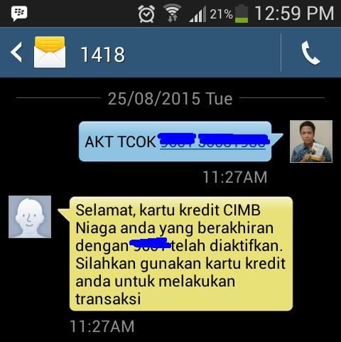 Cara Aktivasi Kartu Kredit Cimb Niaga Syariah Gold Via Sms Blog Rivaekaputra Com